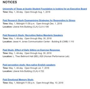 research events calendar